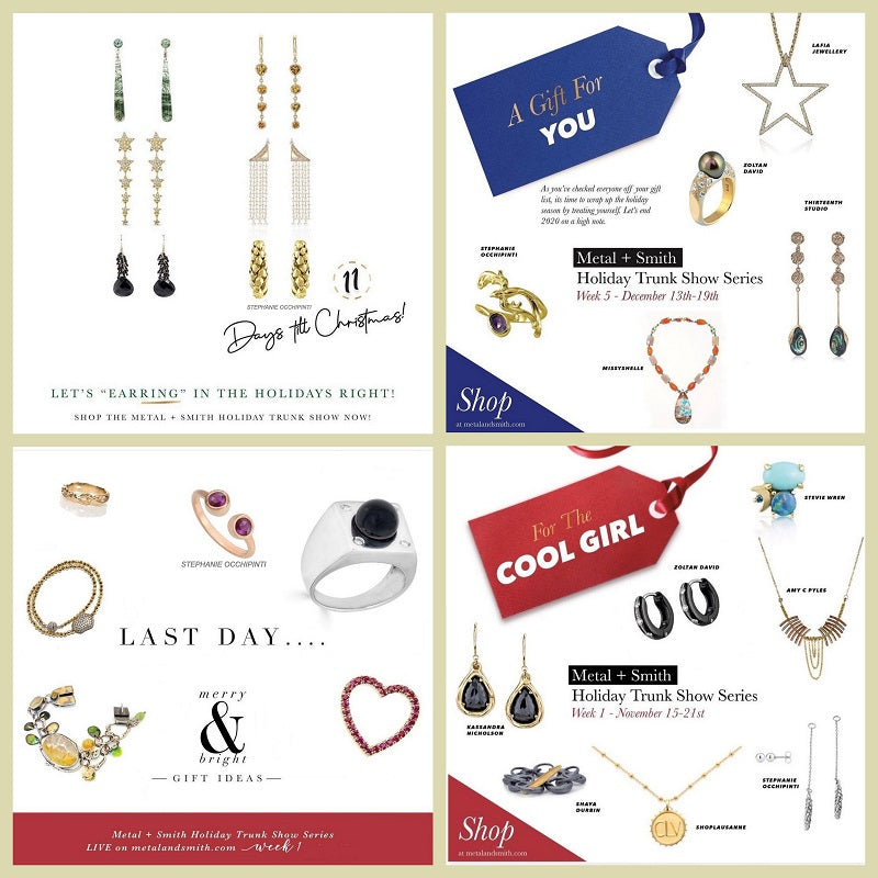 Thank you Metal and Smith for including us in your Holiday Virtual Trunk Show