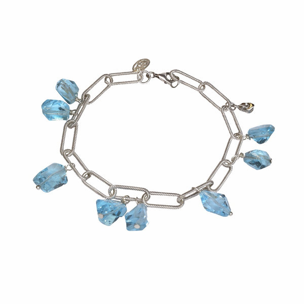 Blue Cascade Charm Bracelet (exclusively-ours)