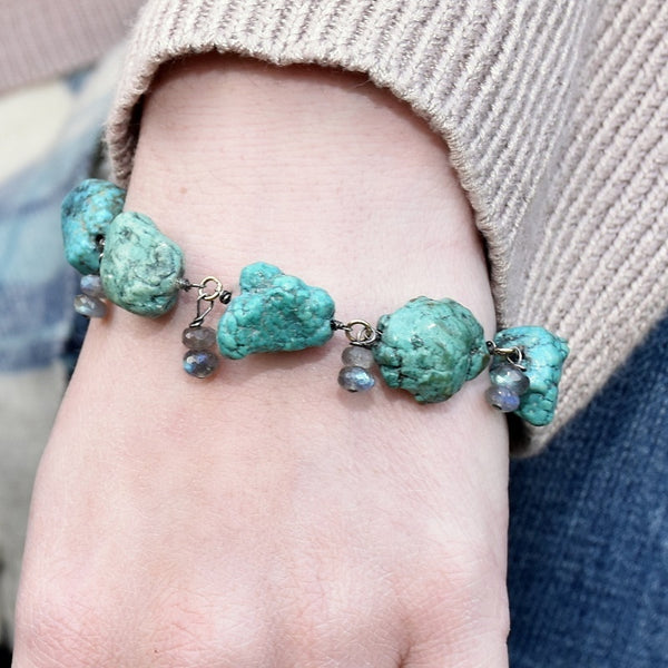 Vivid Lagoon Charm Bracelet (exclusively-ours)