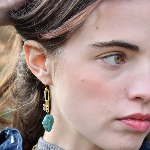 Vivid Lagoon Link Earrings (exclusively-ours)