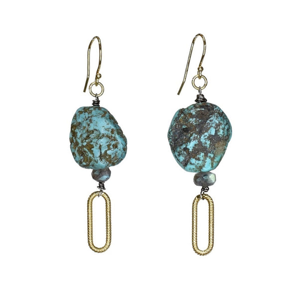 Vivid Lagoon Drop Earrings (exclusively-ours)