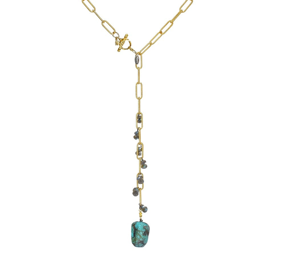 Vivid Lagoon Lariat Necklace (exclusively-ours)