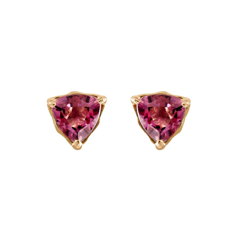 Bermuda Pine Trillion Stud Earrings