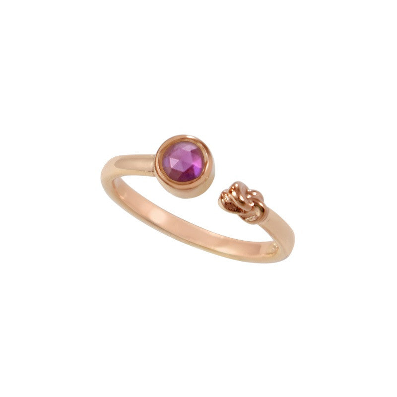 Just Personal Stone and Knot Stackable Ring