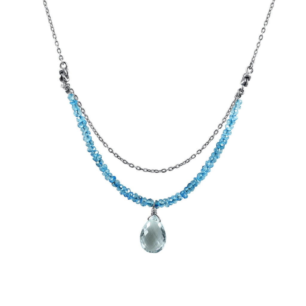 Shades of Calm Drop Necklace