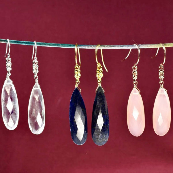 Long Briolette Earrings