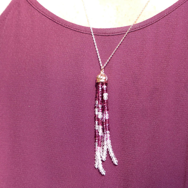 Shades of Calm Tassel Pendant