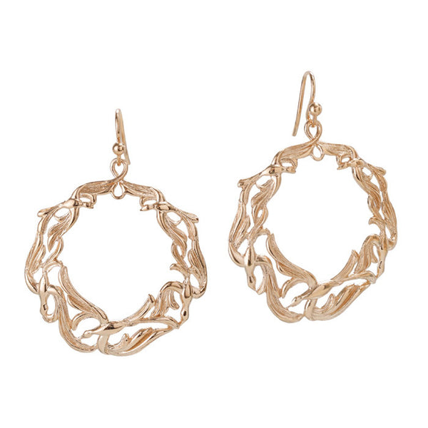 Wings of Lace Circle Earrings