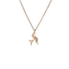Soaring Pendant necklace in rose gold finish