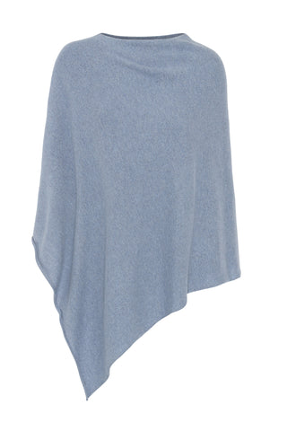 My - poncho, asymetrisk - Light denim blue