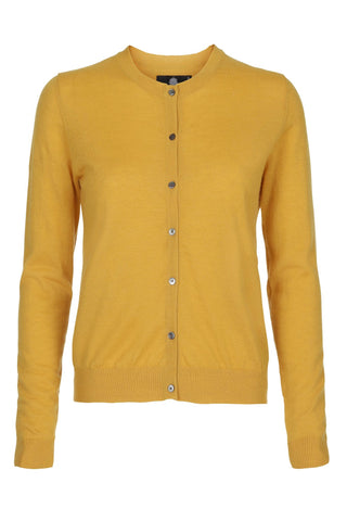 Heino meget let classic cashmere cardigan - Gul