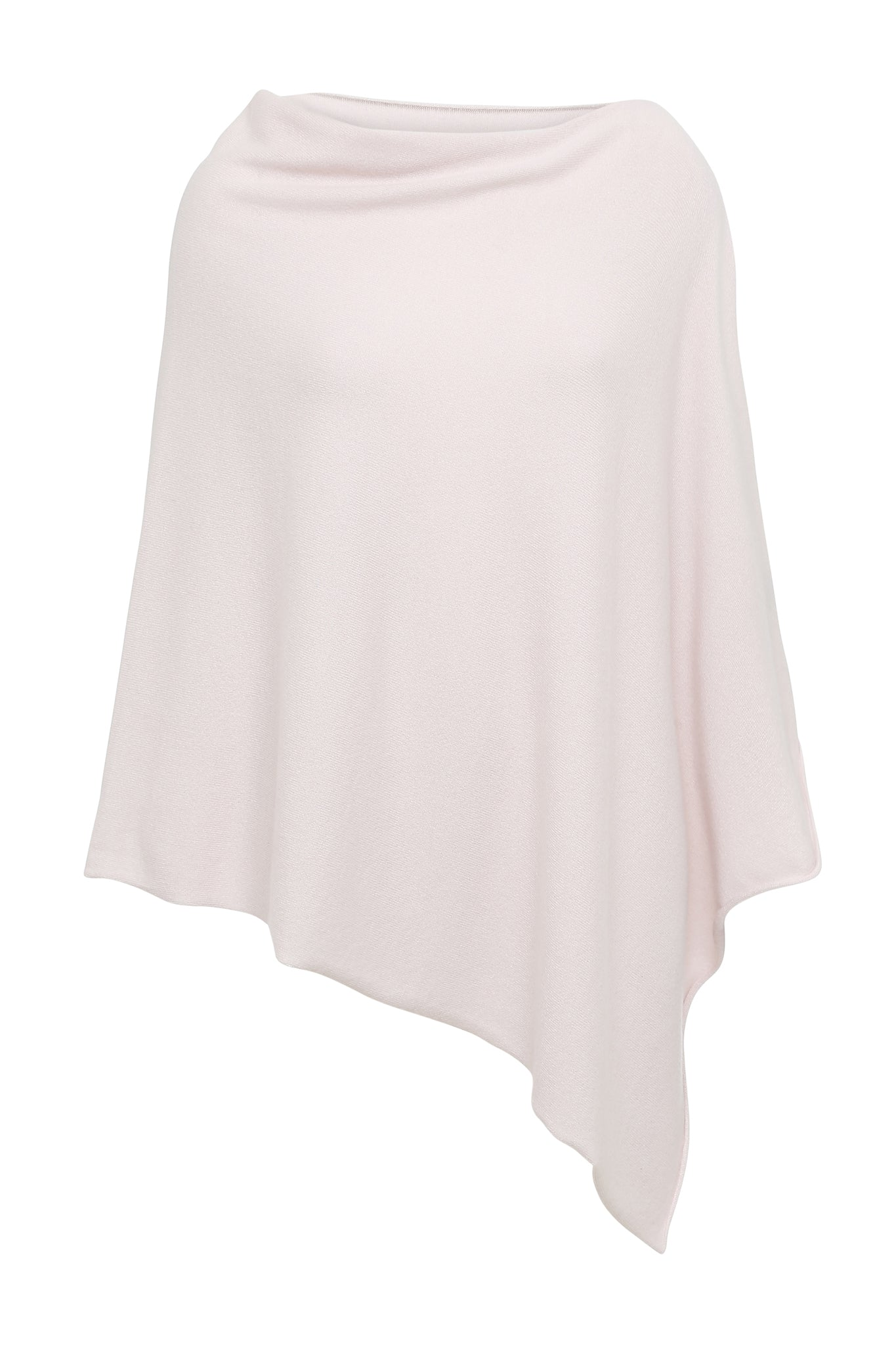 My - poncho, asymetrisk - Light Pink Pastel