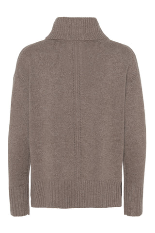 Marilyn - cashmere sweater med turtleneck - Lys Brun