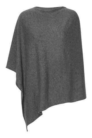 My - poncho, asymetrisk - Dark Grey