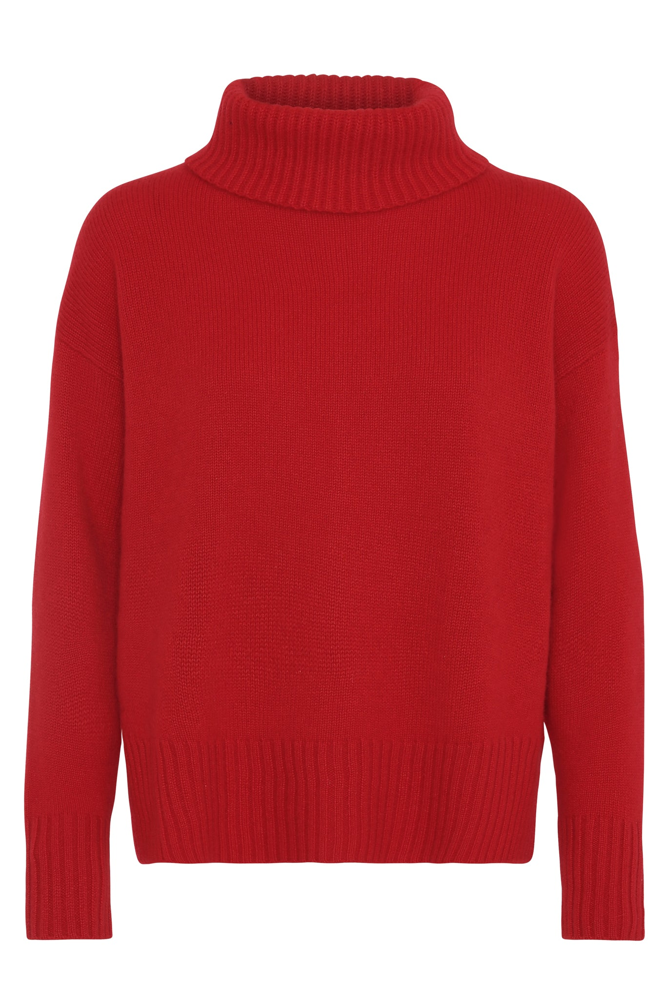 Marilyn - cashmere sweater med turtleneck - Rød