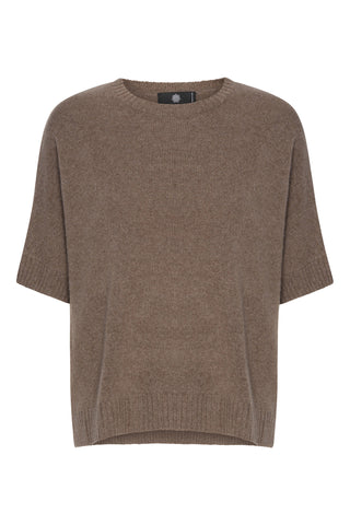 Tilde - Cashmere T-poncho - Light Brown