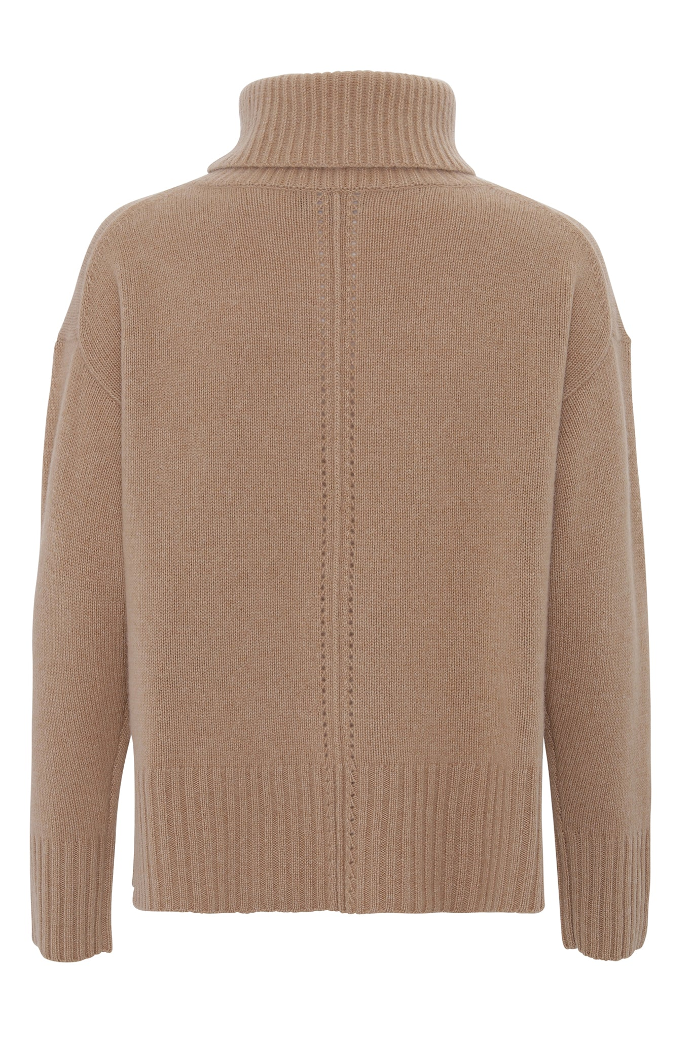 Marilyn - cashmere sweater med turtleneck - Camel