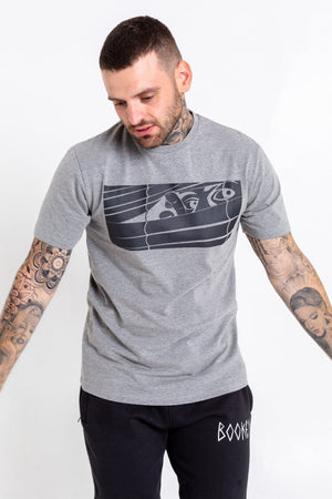 Black Logo Bookey Classic T-Shirt - Grey  - Bookey Clothing - Streetwear