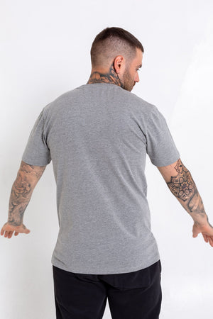 'B' Checkered T-Shirt - Grey - Bookey Clothing - Streetwear
