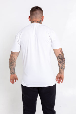 'B' Checkered T-Shirt - White - Bookey Clothing - Streetwear