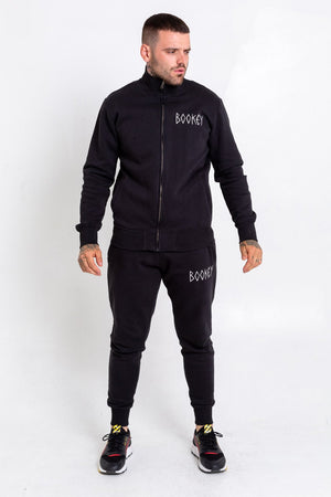 Black Bookey Classic Sweat Jacket with Zip Mens Fit - Bookey Clothing - Streetwear
