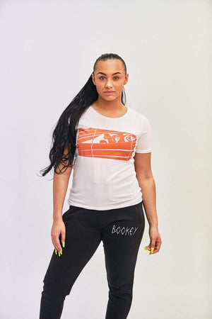 Orange Logo Bookey Classic T-Shirt - Womens Fit - Bookey Clothing - Streetwear