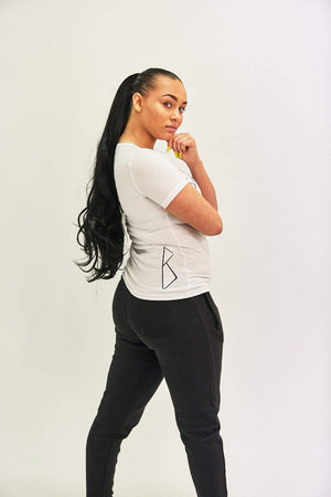 Bookey Statement  T-Shirt - White Womens Fit - Bookey Clothing - Streetwear