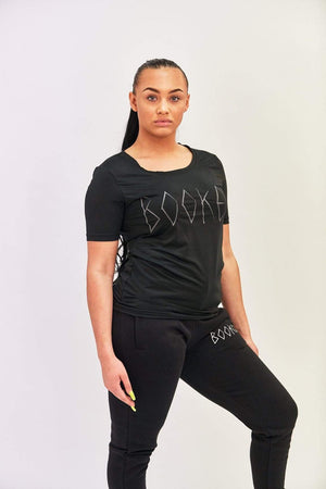 Bookey Lux Statement T-Shirt - Black Womens Fit - Bookey Clothing - Streetwear