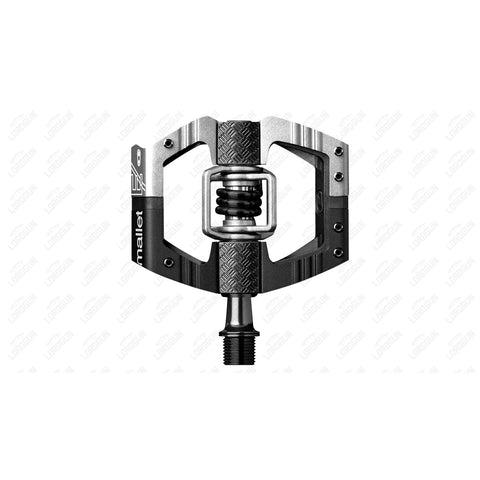Crankbrother Pedal Mallet E Ls Black Inner Body Silver Outer Body.