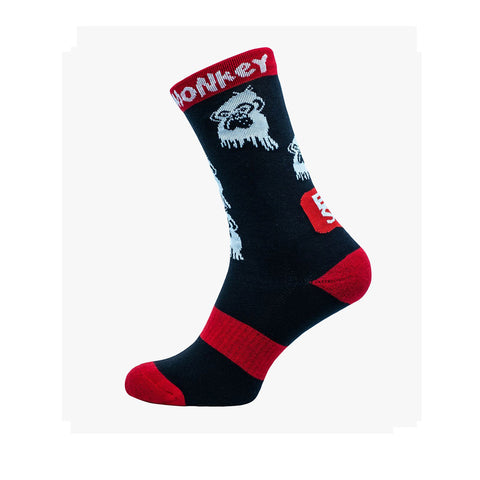 GRUMPY MONKEY ECSD BLACK SOCKS