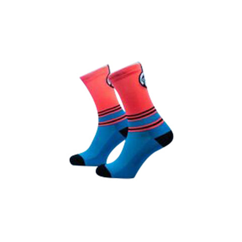 Grumpy Monkey Stripes Pink/Blue Socks