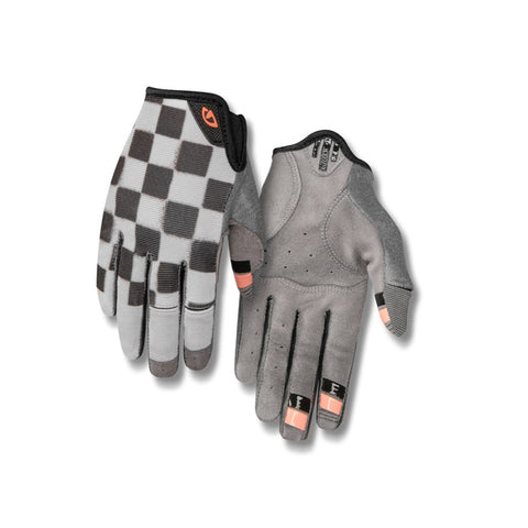 GIRO GLOVES LA DND MEDIUM CHECKERED PEACH