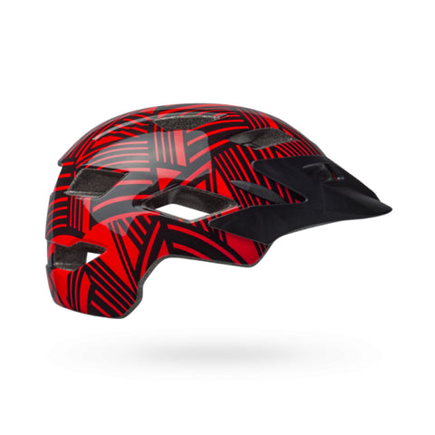 Bell Helmet Sidetrack - Red/Black Seeker.