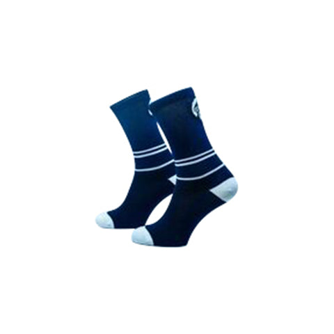 Grumpy Monkey Stripes Navy Blue/White Socks