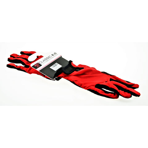 Speedmaster Glove Classic Full Finger Sm Red