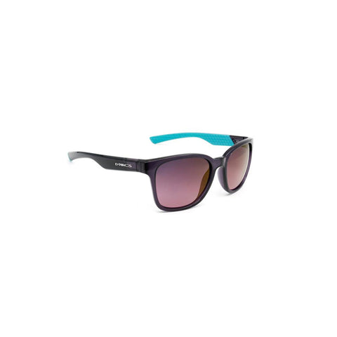 Darcs Jade Sunglasses Clear Purple Frame, Polarized Purple Gradient Lens