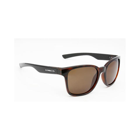 Darcs Jade Sunglasses Tortoiseshell Frame, Polarized Brown Smoke Lens