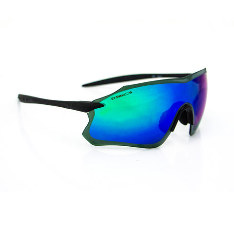 Darcs Single Edge W Frame -Matt Black Lens-Green Mirror