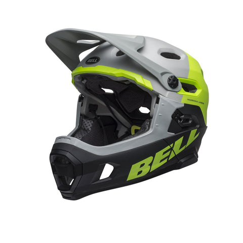 BELL HELMET SUPER DH MIPS MEDIUM M/G DARK GREY/ BRIGHTGREEN/BLACK