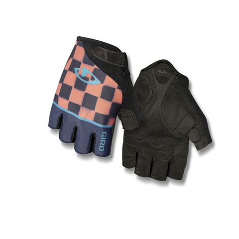 GIRO GLOVE JAG'ETTE MIDNIGHT BLUE/PEACH/CHECKERED