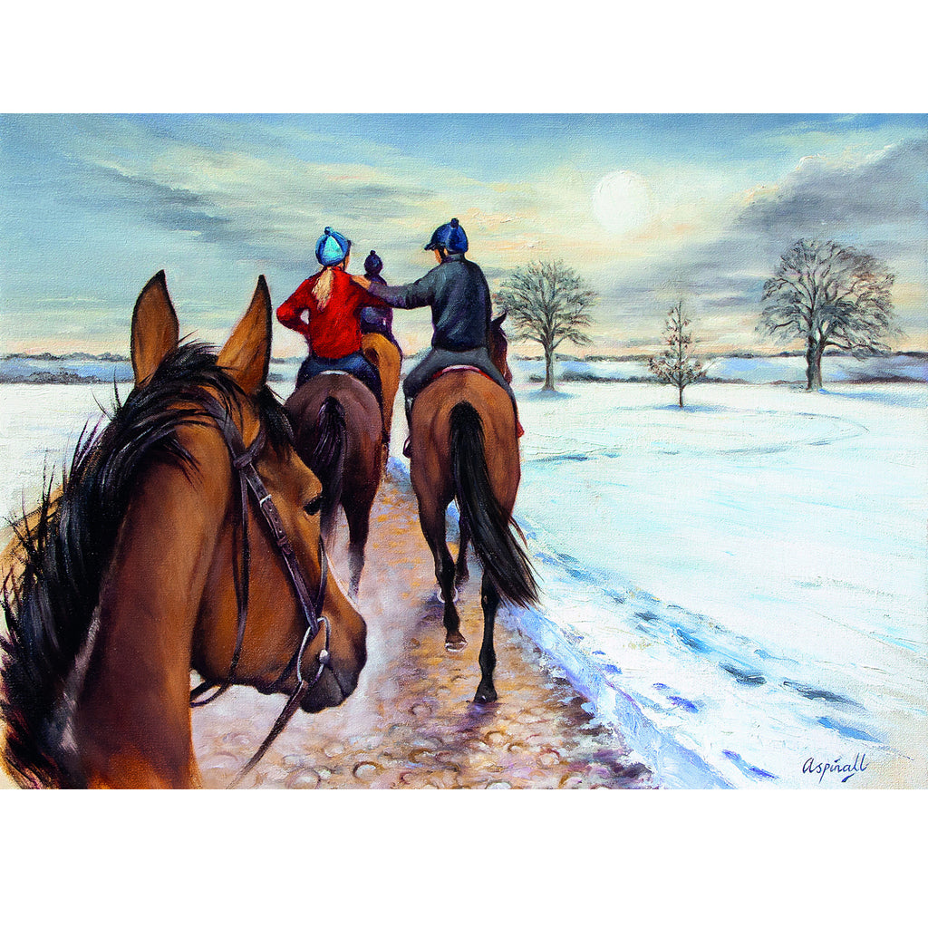 Riding home for Christmas by Sarah Aspinall