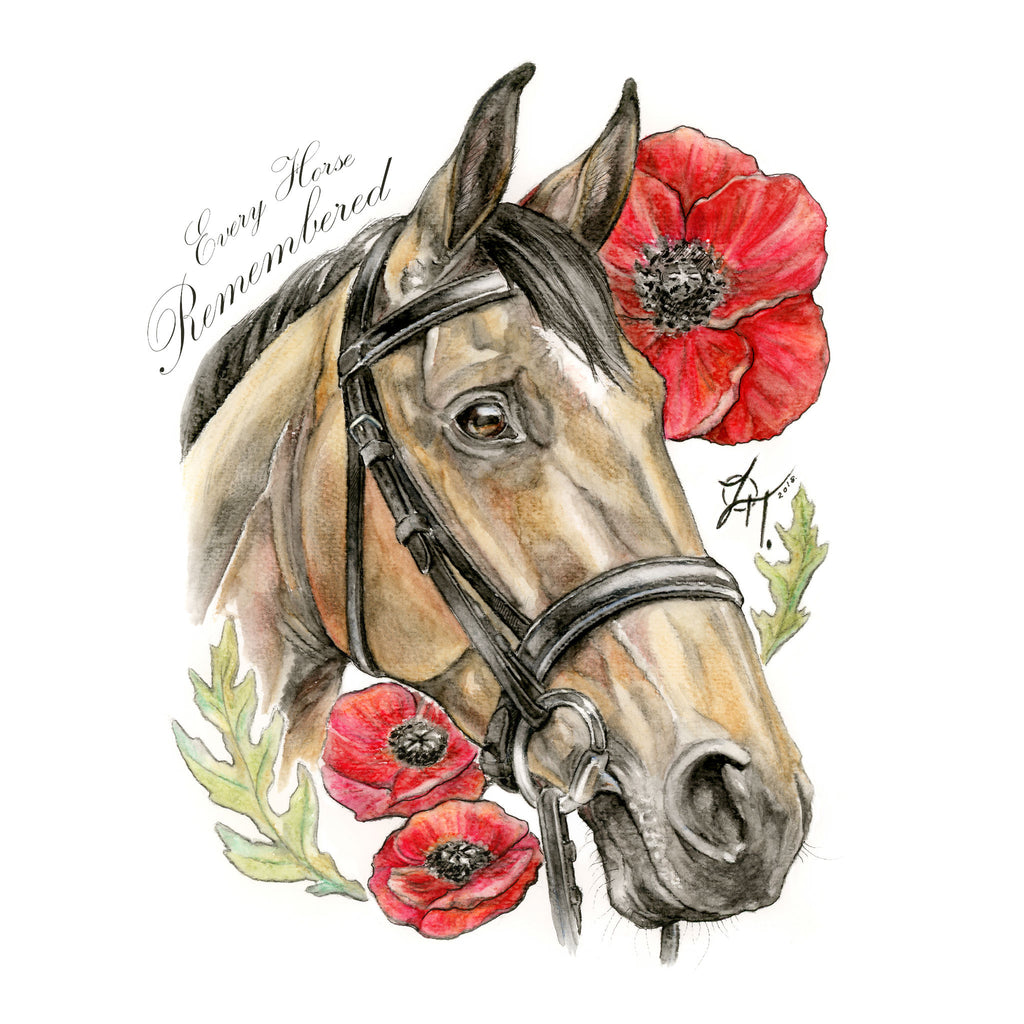 Watercolour Remembrance greetings card