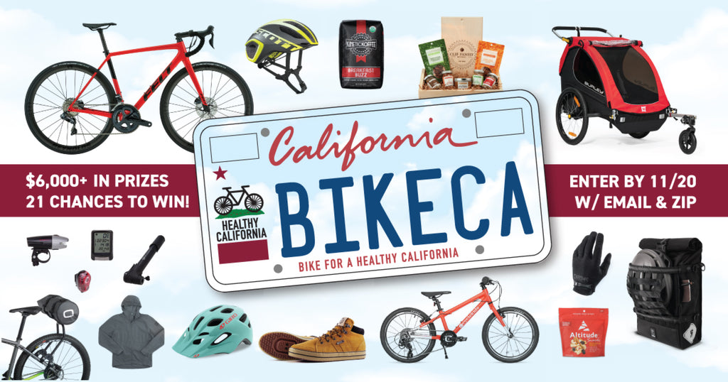 Sign up for information about the new Bike CA License Plate and win a prize!