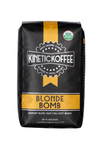 Kinetic Koffee Blonde Bomb-Custom Blend Light Full-City Roast