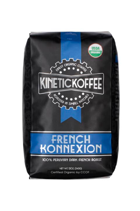 Kinetic Koffee French Konnexion- 100% Peruvian Dark French Roast
