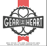 Gear 2My Heart Dark Chocolate Bar -  with or without Coffee