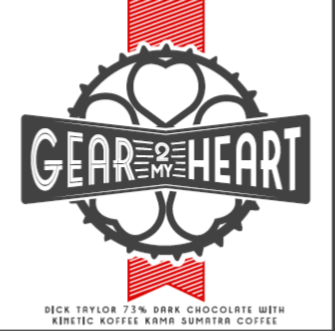 Kinetic Koffee Gear 2 My Heart Chocolate Bar by Dick Taylor Chocolates