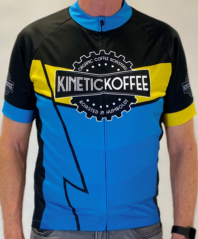 LIMITED EDITION MEN'S Road Cycling Jersey- Blue Lightning