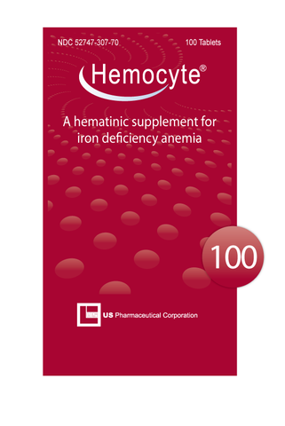 Hemocyte Iron Tablets - 100