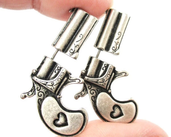 Antique Pistol Earrings